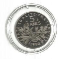Piéce , Monnaie , France , 5 Francs  , 1994 , SPL, Sous Capsule  ,  2 Scans - France