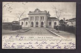 CPA 30 - NIMES - Gare De La Camargue - TB PLAN EDIFICE Ferroviaire - CHEMIN DE FER + TB Oblitération Verso - Nîmes