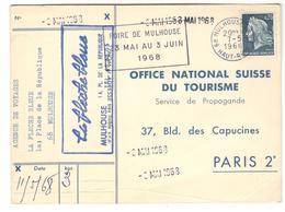 14284 - Pour Office Nal SUISSE Du Tourisme - Marcophilie (Lettres)