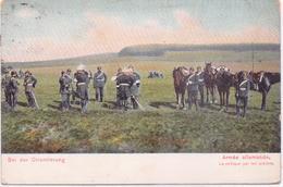 ALTE  AK  DEUTSCHE ARMEE - Bei Der Orientierung - Gelaufen Frankreich 1909 - Maniobras