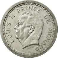 Monnaie, Monaco, Louis II, 2 Francs, Undated (1943), TTB, Aluminium, KM:121 - Monaco