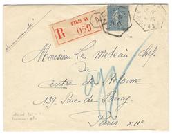 14292 - Recette Urbaine PARIS 20 A - Marcophilie (Lettres)