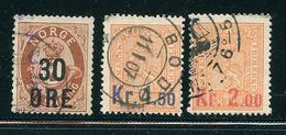 NORVEGE 1905 N° 59 61 62 Timbres De 1867 1872 Surchargés  Voir Photo - Norwegen