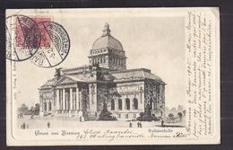 CPA ALLEMAGNE - BARMEN - GRUSS AUS BARMEN - Ruhmeshalle - TB PLAN EDIFICE TB ILLUSTRATION 1902 - Allemagne