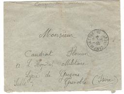 14297 - CAMP DE LA COURTINE - Poststempel (Briefe)