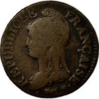 Monnaie, France, Dupré, 5 Centimes, AN 8/5, Strasbourg, B+, Bronze - France