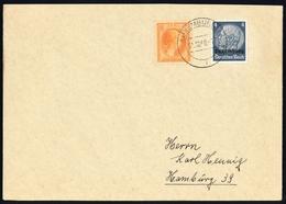 1940, Deutsche Besetzung II. WK Luxemburg, 2 U.a., Brief - Besetzungen 1938-45