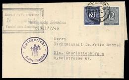1946, Gemeinschaftsausgaben, 920 + 935, Brief - Gemeinschaftsausgaben