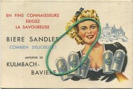 BIERE SANDLER : Kulmbach-baviere   Brasserie - Brouwerij    RECLAME  :   ( 12 X 8 Cm )  See Scans - Andere Verzamelingen