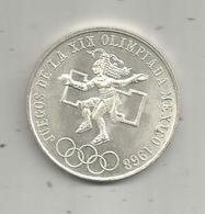 Piéce, Monnaie, MEXIQUE, Juegos De La XIX OLINPIADA MEXICO 1968, Argent , Silver , 25 Pesos, 2 Scans, Frais Fr 2.95 E - Mexique