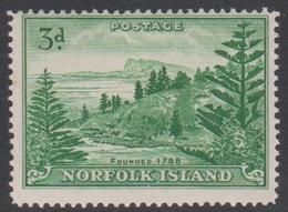 Norfolk Island ASC 7 1947 Ball Bay, 3d Green, Mint Never Hinged - Norfolk Island