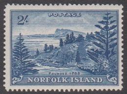 Norfolk Island ASC 14 1947 Ball Bay Two Shollomgs Blue, Mint Hinged - Norfolk Island