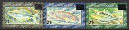 PAPUA NEW GUINEA, 1995 FISH OVERPRINTS 3 MNH - Papua New Guinea