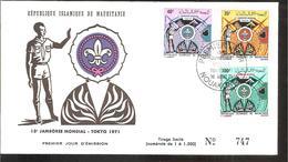 FDC   1971 N°747 TOKYO 1971 - Mauritanie (1960-...)
