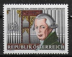 AUTRICHE   N°  1668   * *   Musique Orgue J.G. Albrechtsberger - Music