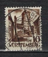 ALLEMAGNE WURTEMBERG          N°  YVERT    16  OBLITERE       ( O   2/54 ) - Zone Française