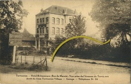 Tervueren - Tervuren :  Hotel Britannique  (  Arret Du TRAM )   Regarder Reclame Verso  (  2  Scans ) - Tervuren
