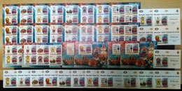 AA207 !!! IMPERFORATE, PERFORATE 2012 BURUNDI ART FABERGE EGGS ROSSICA 18KB+4BL+16 LUX BL MNH - Vie Marine