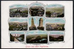 5109 - Gruß Aus Dem Vogtland - Mylau Reichenbach Greiz Plauen Netzschkau Bismarckturm Brücke - Löffler & Co - Gruss Aus.../ Grüsse Aus...