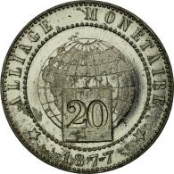 Monnaie, France, 20 Centimes, 1877, Paris, ESSAI, TTB+, Maillechort, Mazard:3899 - France