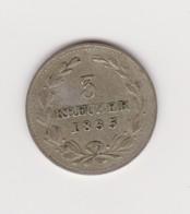3 Kreuzer D'argent Du Grand Duc Léopold De Bade, 1835 - Petites Monnaies & Autres Subdivisions