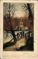 78 VERSAILLES  -  LE PONT  RUSTIQUE , ( Eau Forte  Couleur ) - Versailles (Château)