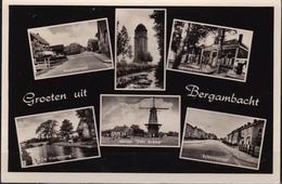 1962 Groeten Uit Bergambacht Met 6 Foto's Z/W Gelopen Naar PMT Legerplaats Oldebroek - Nederland