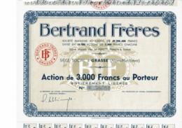 06-BERTRAND FRERES. PARFUMS. GRASSE. Capital De 49,5 MF - Actions & Titres