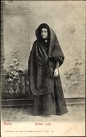 Cp Malta In Kärnten, Portrait Of Maltese Lady, Cloak - Malta