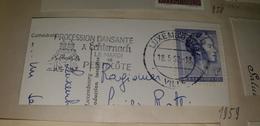 PROCESSION DANSANTE Mardi De Pentecote Holy Spirit Ghost Luxemburg Luxembourg 1962 Cancel Cancellation - Cristianesimo