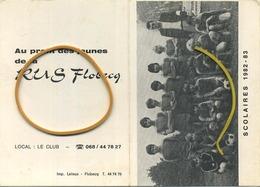 FLOBECQ  (  Calendrier ) Football  Scolaires  1982-83  (  Voir Scans ) - Calendriers
