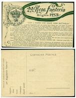 CARTOLINA - V9356 ITALIA REGNO Cartolina Postale REGGIMENTALE 29° Reggimento Fanteria BRIGATA PISA, Nuova, - Pisa