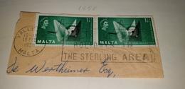 THE STERLING AREA Money Currency Pound MALTA VALLETTA 1958 Cancel Cancellation - Malta