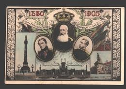 Liège - Exposition Universelle - 75e An. De Belgique - L'Union Fait La Force - 1830-1905 - Dos Simple - Liege