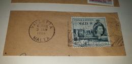 MALTA VALLETTA 1964 Cancel Cancellation - Malta