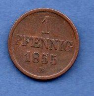 Braunschweig -  1 Pfennig 1855 B    -  état  TB - [ 1] …-1871 : German States