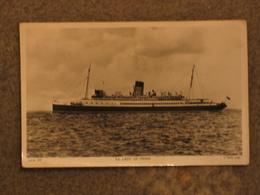 ISLE OF MAN STEAM PACKET LADY OF MANN RP, TUCK - Ferries