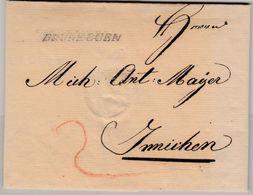 Österreich/Tirol - Bruneggen (Bruneck) L1 A. Brief N. Innichen 1824 - 1850-1918 Imperium