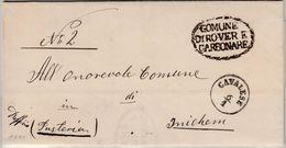 Österreich - Cavalese 1881 K1 A. Dienstbrief N. Innichen - 1850-1918 Imperium