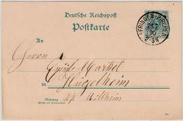 DR - Efringen-Kirchen 1890 K1 A. 5 Pfg. GA-Karte N. Hügelheim - Unclassified