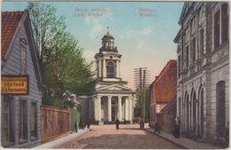 Lettland Baltikum - Windau Lutherische Kirche Farb. AK Gelaufen 1914 Latvia - Lettland