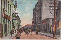 Lettland Baltikum - Windau Schlossstraße Farb Ansichtskarte Gelaufen 1913 Latvia - Lettland