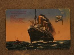 HAMBURG AMERICA IMPERATOR (LATER BERENGARIA) ART CARD - Steamers