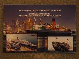 EX-CUNARD LINE QUEEN ELIZABETH 2 (QE2) CONVERTED TO FLOATING HOTEL, DUBAI - Steamers