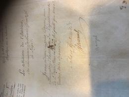 Autographe Signature Du Ministre De L'Intérieur, Pierre Bénézech - Autographs