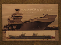 2017 HMS QUEEN ELIZABETH COMMISSIONED TO ROYAL NAVY BY QUEEN - Warships