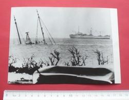 "1968 - Saipan, Sunken Ship ""Four Winds"" - Northern Mariana Islands - Wirephoto, Photo For Press - 68 - Northern Mariana Islands"