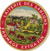 ETIQUETTE FROMAGE   CAMEMBERT -   LAITERIE DES SABLONS - - Cheese