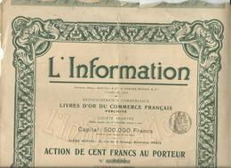 Action Et Titre L'information Nos0.865 - Other