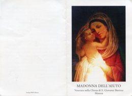 Matera - Santino Depliant MADONNA DELL'AIUTO Chiesa Di San Giovanni Battista - OTTIMO P96 - Religion & Esotericism